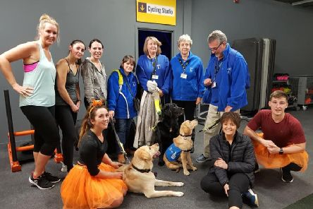 The Active Nation team with members of the Lostock Hall and Bamber Bridge Guide Dogs branch.
