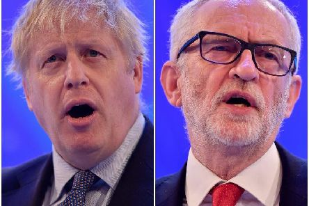Britain's Prime Minister and Conservative Party leader Boris Johnson (L) and Britain's main opposition Labour Party leader Jeremy Corbyn (R) - Photo by BEN STANSALL/AFP via Getty Images