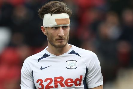 Ben Davies sports a bandaged head during Preston's win at Charlton earlier in the month