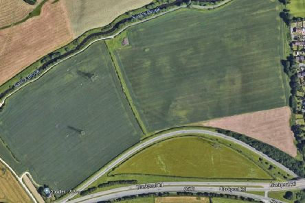 The land in Lea which is set to see 280 new homes built. Pic: Google