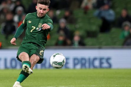 Republic of Ireland's Sean Maguire scores his side's second goal of the game during the International Friendly against New Zealand