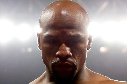 Floyd Mayweather Jr. in the ring before the welterweight unification championship bout on May 2, 2015 at MGM Grand Garden Arena in Las Vegas, Nevada. (Photo by Al Bello/Getty Images)