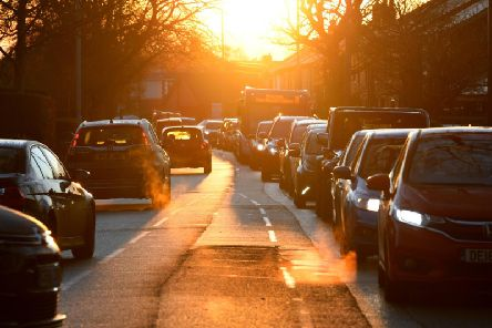 Traffic in Cop Lane, Penwortham, on the morning of December 4