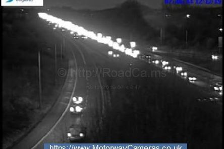 Two lanes have been closed on the M61 southbound between junctions J8 and J6 after a crash at around 7.30am (December 12)