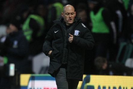 Preston manager Alex Neil jogs to the dressing room at half-time of the 2-1 win over Luton