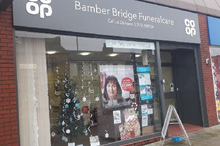 CoOp Bamber Bridge Funeralcare, Station Road, is inviting people to write a message of remembrance for a loved one they have lost.