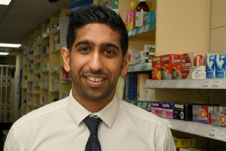 Kris Parmar at Leyland and Farington Pharmacy, Clifton Parade, Farington
