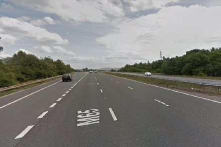 A multi-vehicle crash on the M65 eastboundis causing delays this evening (January 20).