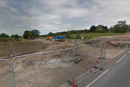 Work on the Strawberry Fields development off Euxton Lane last summer (image: Google)