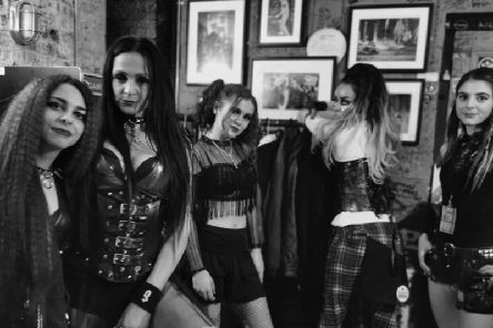 Punk rock band, Nancy and the Dolls, who've played at The British Grand Prix and Isle of White Festival.