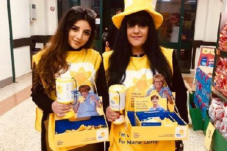 Rosziena Kamal and her daughter, Samarah, of Preston, regularly volunteer to collect for Marie Curie during the Great Daffodil Appeal.