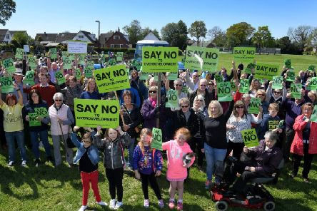 Residents in Goosnargh and Whittingham staging a demonstration as part of its fight against over-development.