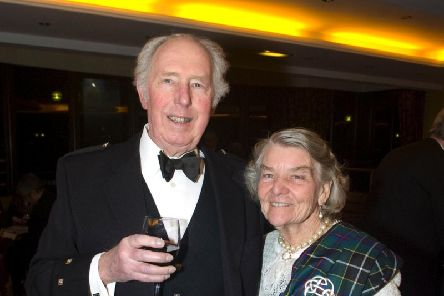"Bennie with her late husband, Col John ""Dickie"" Bird"