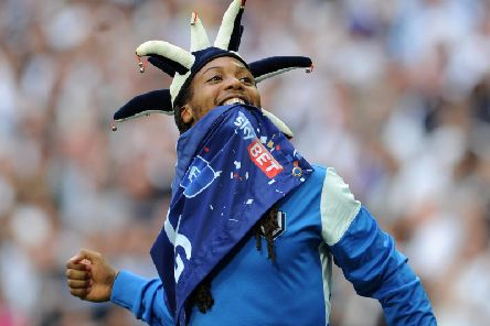 Daniel Johnson celebrates at Wembley after PNE's League One play-off final win over Swindon