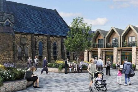This is how a new civic square could look alongside the United Reformed Church on Hough Lane