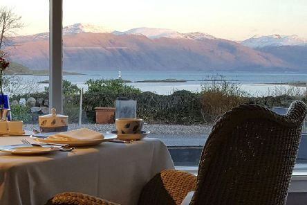 The stunning view from the Airds dining room