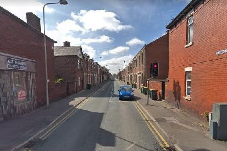 A view down Plungington Road from Blackpool Road