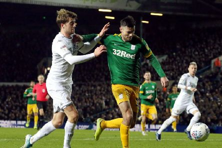 Preston left-back Andrew Hughes in action against Leeds at Elland Road on Boxing Day
