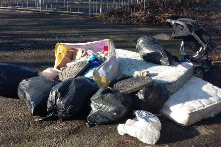 Fly-tipping at Peel Avenue in Heysham. Picture by Lancaster City Council.
