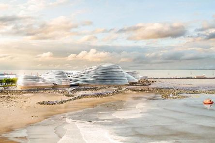 An artists impression of Eden Project North, a proposed new attraction for Morecambe . Credit: Grimshaw Architects