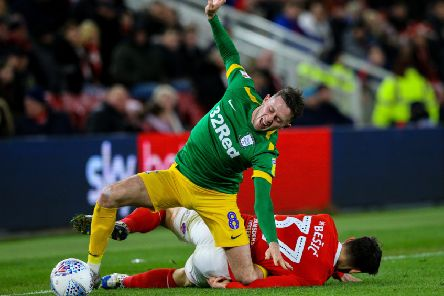 Alan Browne was injured in the victory at Middlesbrough