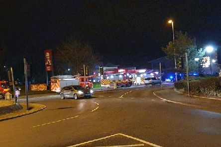 Fire engines on Port Way this evening. Pic: Ashton and Riversway PACT
