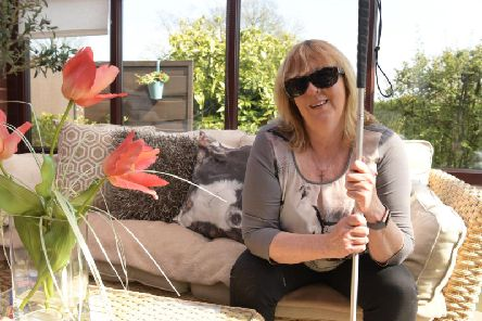 Lynne Rennison at home