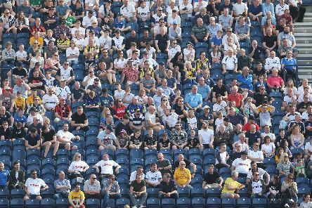 Preston fans enjoying the football and the sunshine in the game against Ipswich on Friday