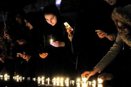 Mourners at a vigil organised by the Preston Faith Forum to honour the victims of the New Zealand terrorist attacks in March 2019. Picture by Paul Heyes