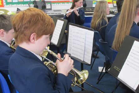 Students from Carr Hill orchestra took part in workshops with members of the BBC Philharmonic Orchestra