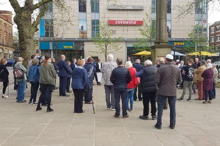 More than 50 people gathered at Preston Flag Market for the vigil to remember those killed in the Sri Lankan terrorist attacks.
