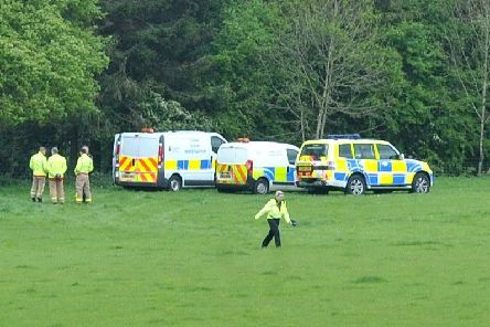 Police at the scene in Parbold Hill