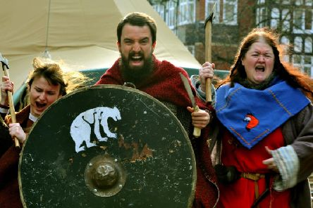The Jorvik Viking Centre from York is behind the event