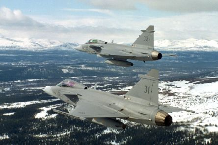 The SAAB built Gripen aircraft