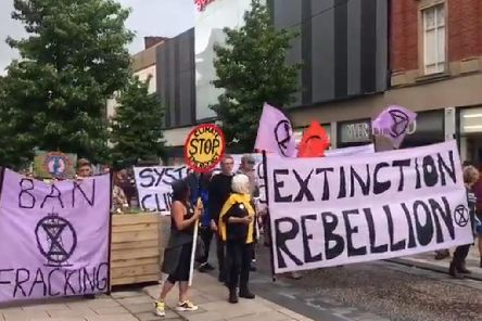 The Extinction Rebellion Preston protest down Fishergate (JPIMedia)
