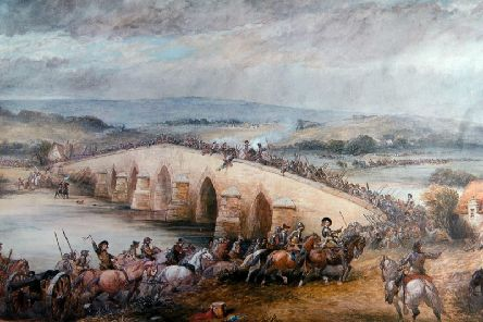 Battle of Preston painted in 1877 by Charles Cattermole