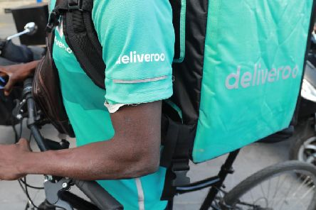 An ad for food service Deliveroo has been banned