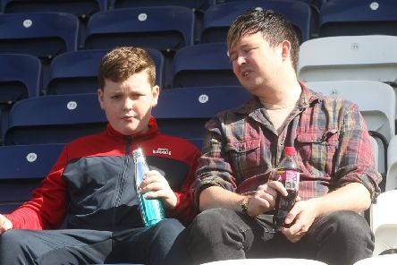 Fans before the game at Deepdale on Saturday