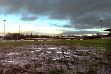 Waterlogged pitches were the feature of the weekend