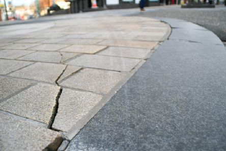 Pavements cracked under the weight of buses and trucks
