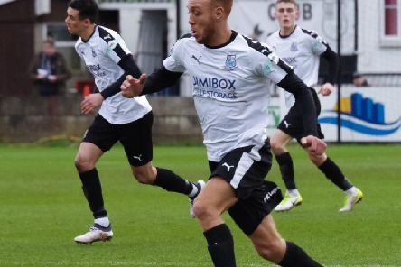 Richie Allen helped Bamber Bridge to a great win over FC United'Photo: Ruth Hornby