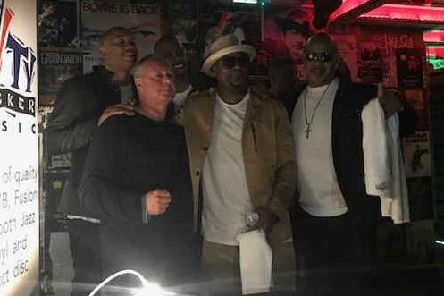 Chris Walls, the man behind Cityslickermusic, is pictured here on the far left