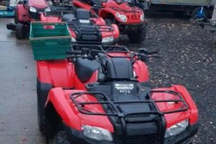 Stolen quad bikes and trailer recovered in police raids in Leyland and Lostock Hall