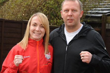 Lisa Whiteside, left, and her coach Mick Day