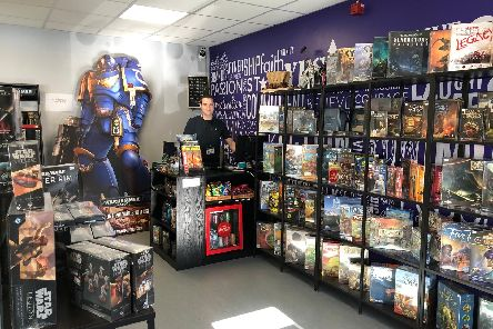 Rogue Games owner Bryan Clapham in his Leyland store.