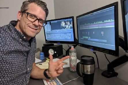 James Ralph in his editing studio in LA'Photo by Justin Saculles