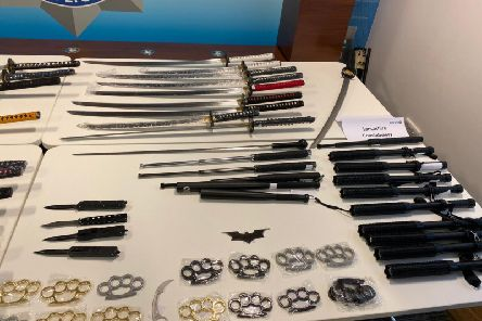 Police forces have worked closely with the Regional Organised Crime Unit (ROCU) and the National Crime Agency (NCA to intercept a total of 116 knives, swords and other offensive weapons
