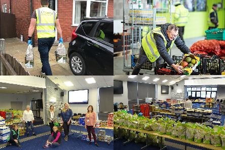 Efforts are under way to provide life's essentials for those who have been left struggling by the coronavirus outbreak (images from top left courtersy of Chorley Council, Rob Whitrow/Recycling Lives and South Ribble Borough Council)