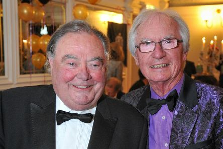 Comedian Eddie Large who has died aged 78 with comedy partner and friend of 60 years Syd Little