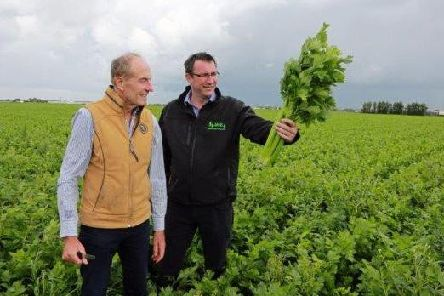 Ian Torley (right) and Len Wright of Len Wright Salads